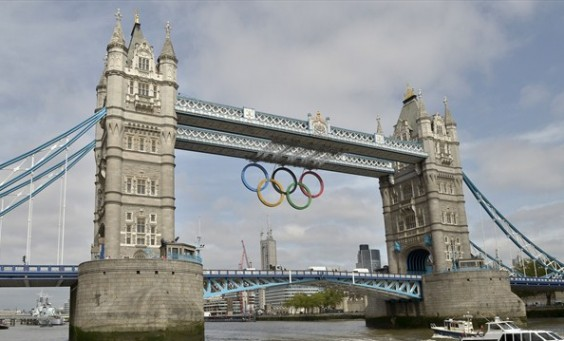 Tower bridge welcomes the 2012 Olympic and Paralympic Games