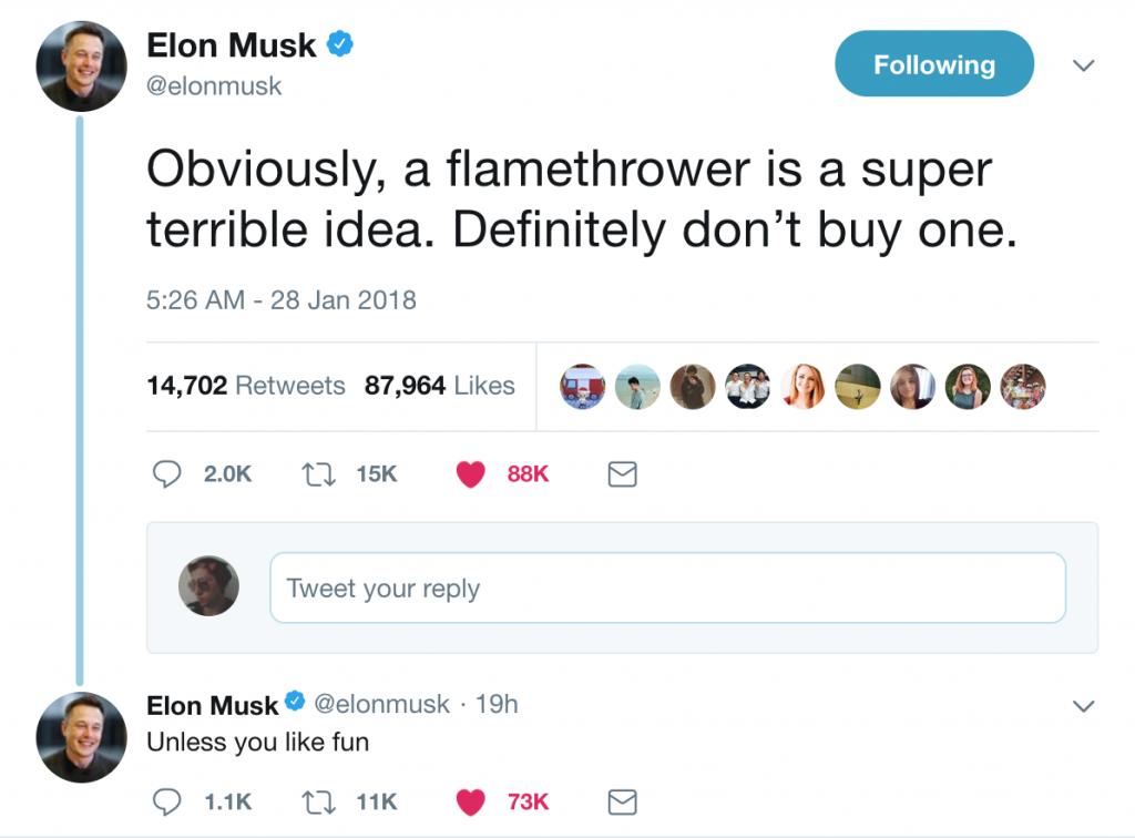 Musk's humor